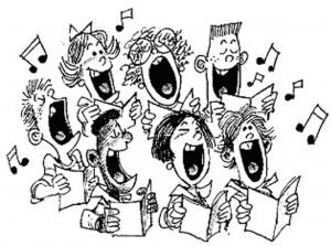 zingend koor